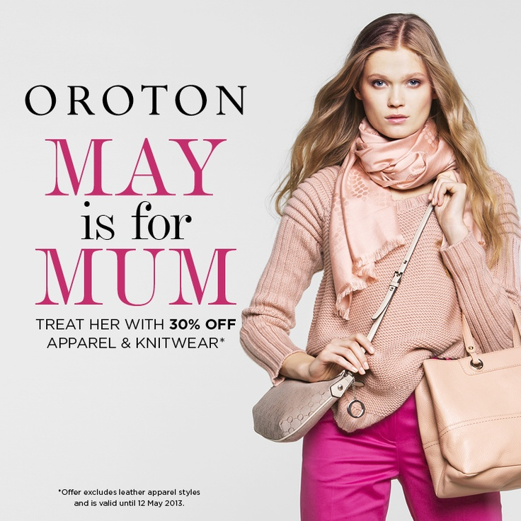 Treat her with 30% OFF apparel & knitwear*