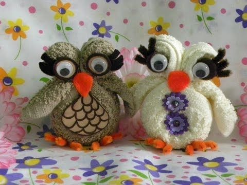 ▶ OWL MADE WITH A facial tissue -. OWL FACE TOWEL - YouTube