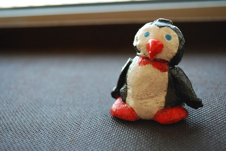 salt dough little penguin