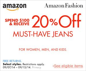 27 best discounts images on pinterest amazon deals coupon codes spend 100 receive 20 off must have jeans fandeluxe Image collections