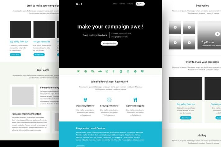 Jana Modern Email Template Online Builder By Castellab On