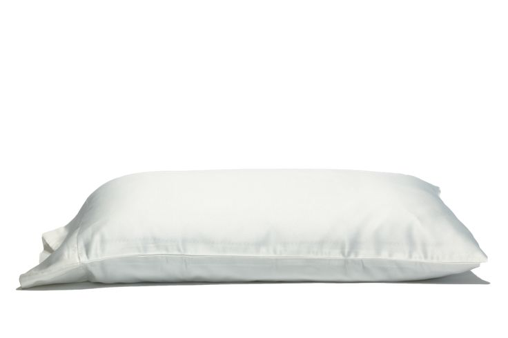 'White Russian' 100% Satin Pillow Case. Anti-aging, machine washable, with the bonus secret pocket.