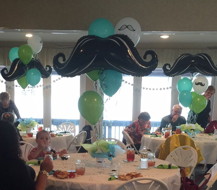 Balloon Mustache Centerpiece