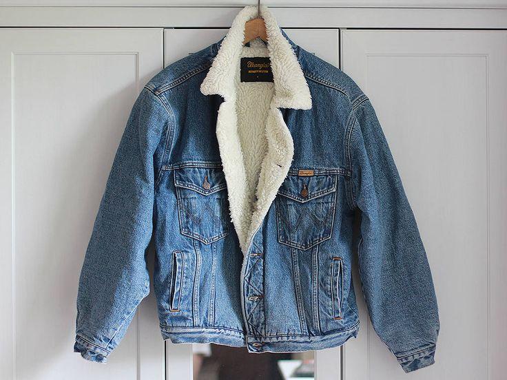Wrangler Denim Jacket Vintage Oldschool Blue 90s Winter