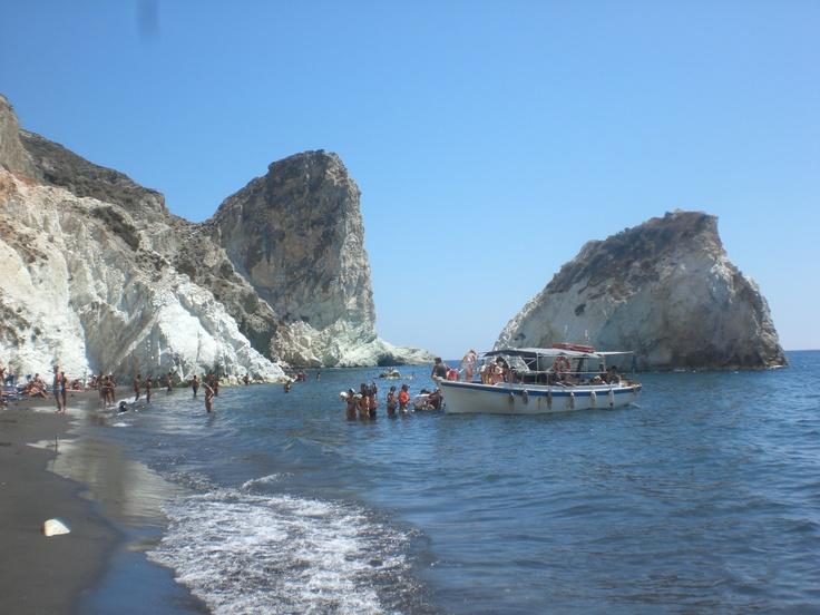 Rocks at the white beach