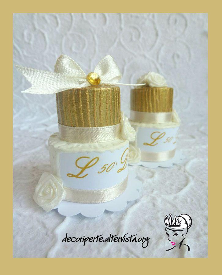"Wedding ""Golden Anniversary"" mini cakes | MINI WEDDING CAKE ..."