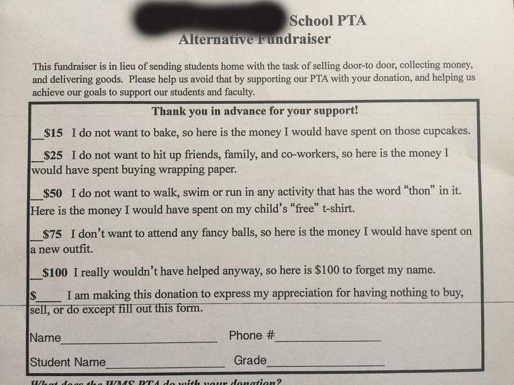 Funny PTA Fundraising Letter | POPSUGAR Moms