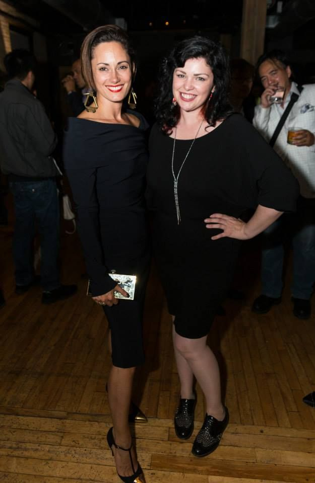 Natalie Brown with Stylist Box's Gail McInnes wearing a Caroline Néron necklace. TIFF 2014 carolineneron.com