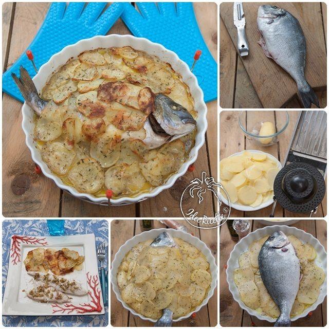 Orata saporita con capperi e olive in crosta di patate http://www.ideericette.it/ricetta-orata-saporita-con-capperi-e-olive-in-crosta-di-patate/