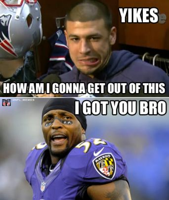 Offensive Meme of the Day - Hang in there Aaron Hernandez - Not Easily Offended