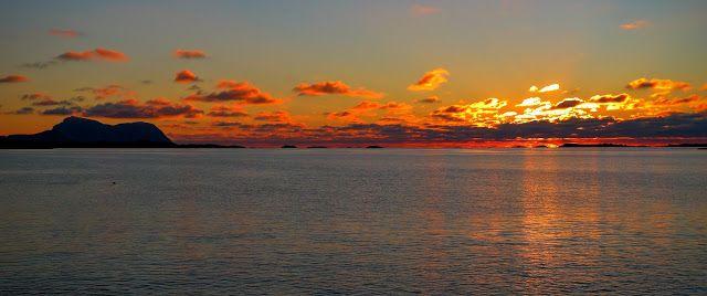 blogg Gustav Skaar: Oktobergrill i solnedgang