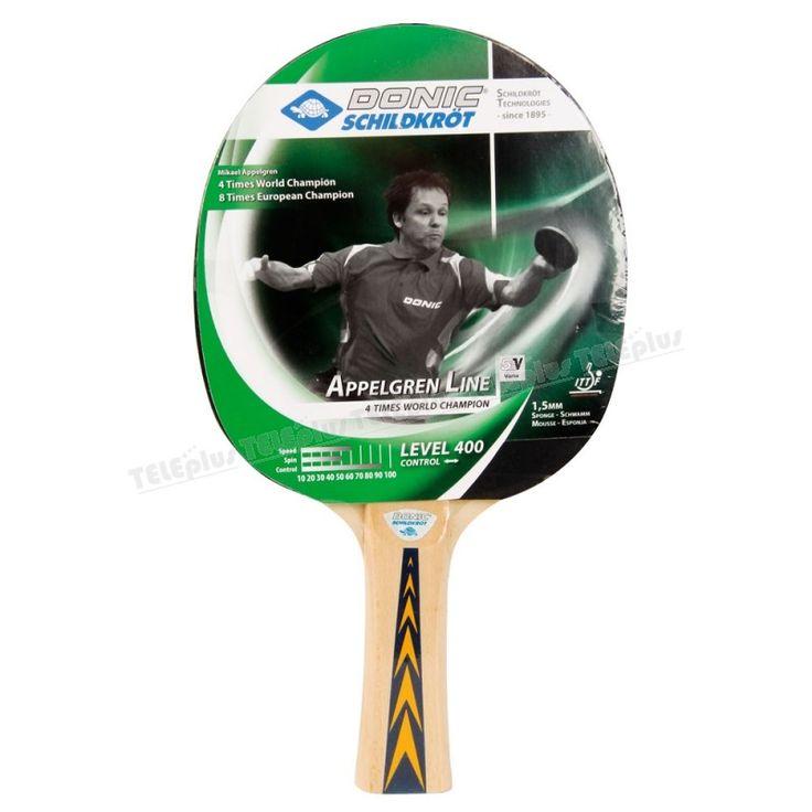 Donic Appelgren 400 Masa Tenisi Raketi ve Topu  - ITTF ( Uluslararası Masa Tenisi Federasyonu ) Onaylıdır.  Raket yeni başlayan oyuncular içindir.   Sünger kalınlığı 1,5 mmdir. - Price : TL32.00. Buy now at http://www.teleplus.com.tr/index.php/donic-appelgren-400-masa-tenisi-raketi-ve-topu.html