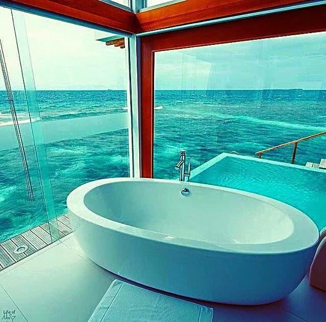 299 best cool bathrooms images on Pinterest   Bathtubs, Dream ...