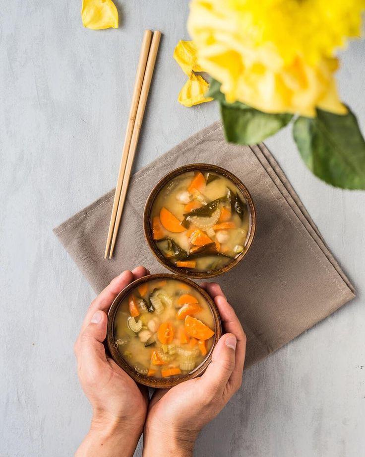 Miso soup with carrots celery wakame processed chickpeas and chickpeas :) おはようございますセロリにんじんひよこ豆わかめを入れたお味噌汁をつくってみましたひよこ豆の半分はブレンダーで潰してみました. . . . . . . #beautifulcuisines #buzzfeedfood #cookit #eattheworld #f52grams #feedfeed #foodandwine #foodblogfeed #foodgawker #foodphotography #foodstyling #foodstagram #goopmake #huffposttaste #iamwellandgood #mindbodygram #thekitchn #yeshuffpost @foodblogfeed @thefeedfeed #locari_kitchen #エルグルメ #オトコノキッチン #クッキングラム #コッタ #デリスタグラマー #とりあえず野菜食 #healthyfoodshare…