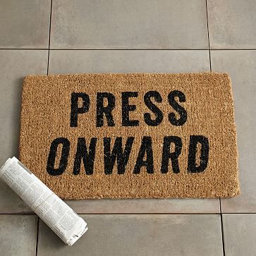 Press Onward Coir Doormat #westelm