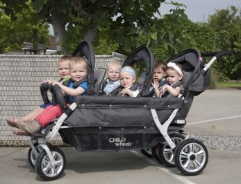 Childhome wózek Sixseater dla 6 dzieci DO ŻŁOBKA