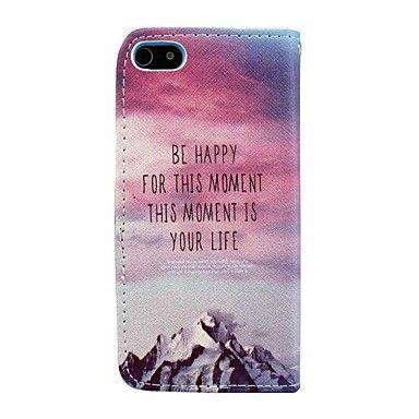 happy elk moment pu leer full body case met kaarthouder voor iPhone 5 / 5s – EUR € 8.99