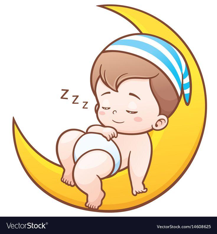 Baby sleeping Royalty Free Vector Image - VectorStock ...
