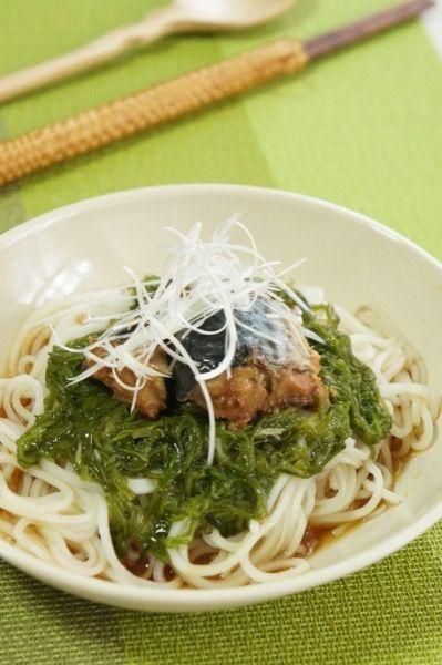 ささっと☆めかぶとサバ缶のさっぱり麺 by 渥美真由美 | レシピサイト ...