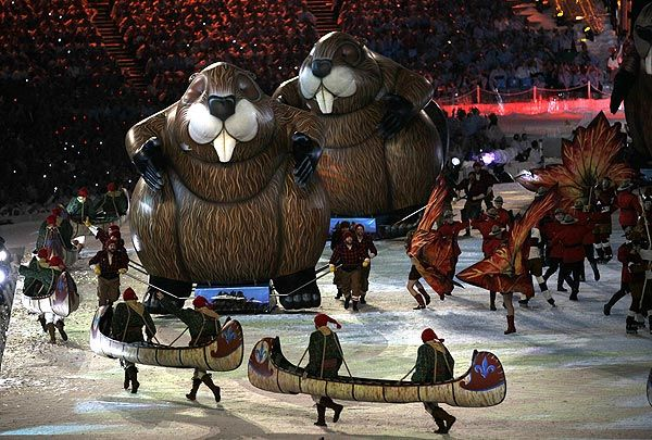 Part of the Closing Ceremonies for the 2010 Winter Olympic Games in Vancouver, British Columbia | Dynamic Displays' Fabulous Inflatables
