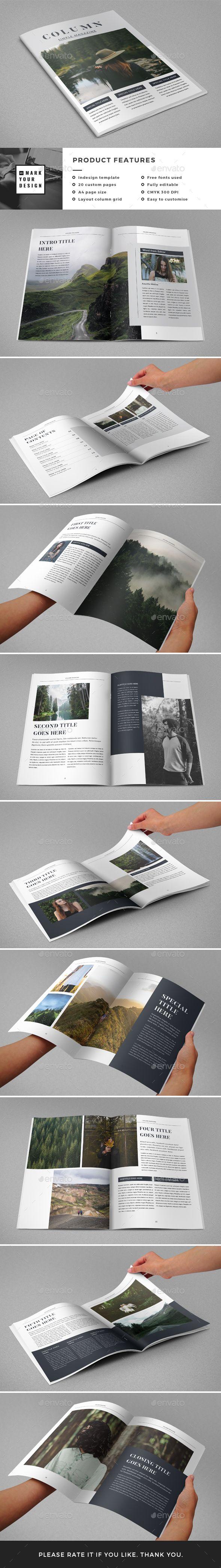 Simple Magazine - Magazines Print Templates Download here : https://graphicriver.net/item/simple-magazine/19076832?s_rank=93&ref=Al-fatih
