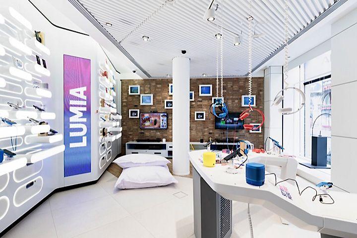 Phone Shop | Retail Design | Retail Display | Nokia flagship store by Sundae…