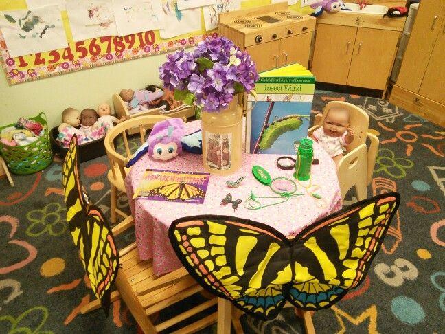 Dramatic play bug study headstart springville classroom for Bug themed bedroom ideas