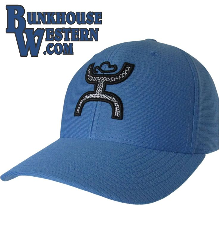 #GetYourHOOey Ultimate Blue, FlexFit Cap, White & Black Hooey Man, Curved Bill, Cowboy Hat, Rodeo, Roping, $29.98, http://bunkhousewestern.com/ulti