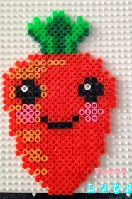 Kawaii carrot hama beads by LiLi On The Blog