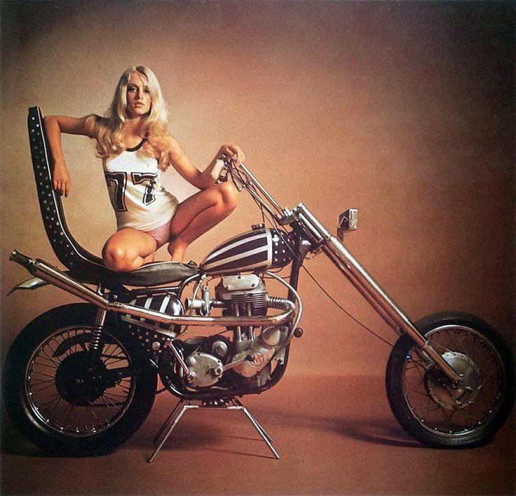 nude biker babes old school