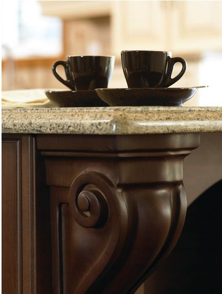 Traditional Kitchens Are All About The Ornate Details Like This Island  Corbel. #Cabico. Traditional KitchenCabinet