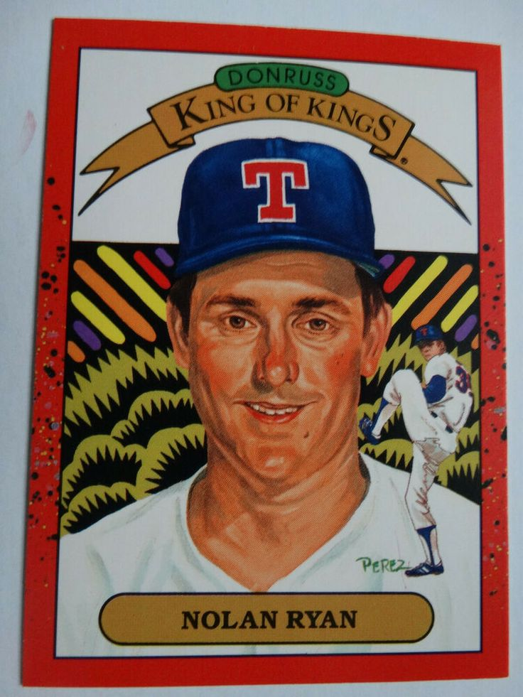1990 Donruss 659 Nolan Ryan Diamond King Texas Rangers