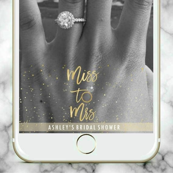 Miss to Mrs Bridal Shower Engagement Party Bachelorette Party Snapchat Geofilter