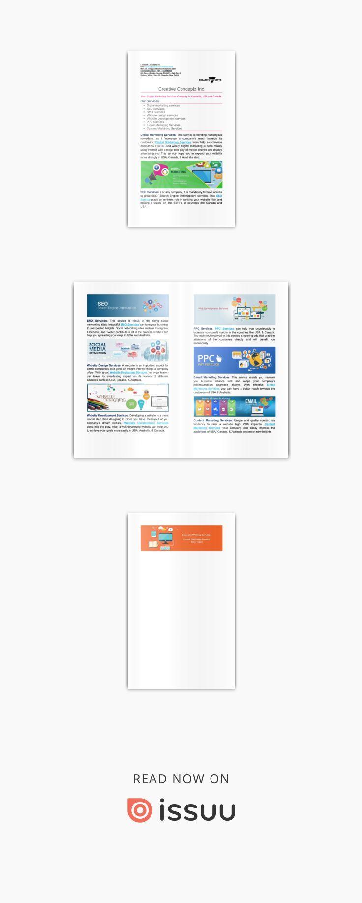 Digital Marketing Services Company in Australia and USA @Creative