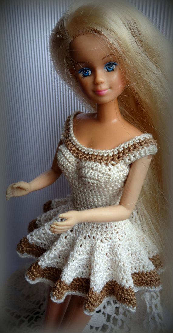 RESERVED for Inês Crochet Barbie Clothes Dress by RianasDollCloset