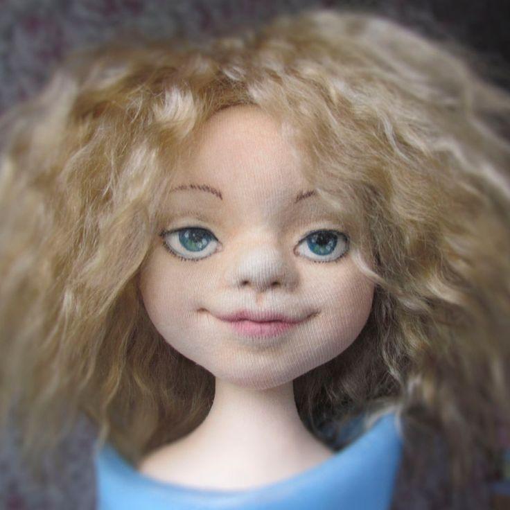 Галина Еремина, текстильная кукла, объемное лицо