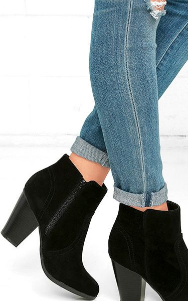 Cute Aubrey Black Suede Ankle Booties via @bestchicfashion