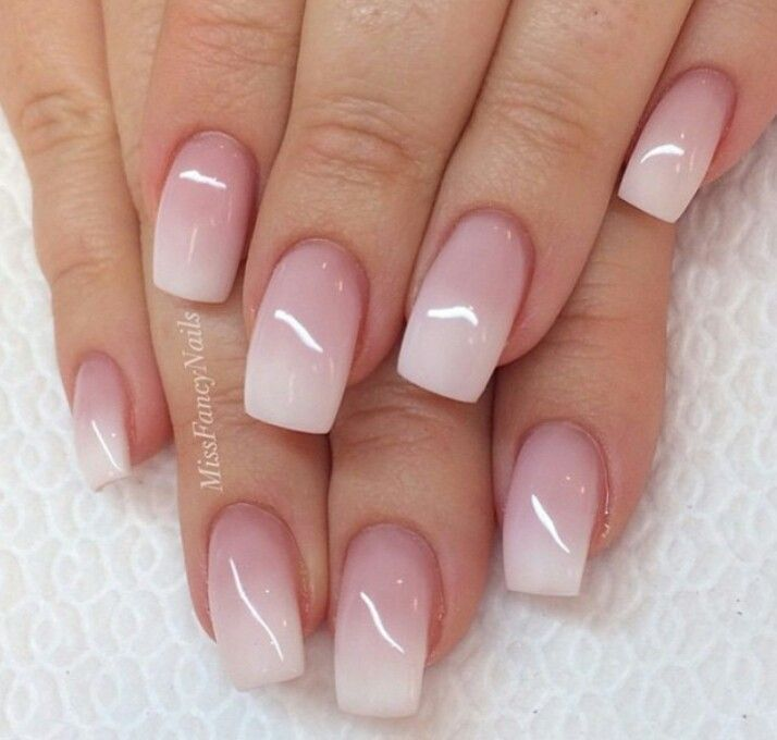 French Ombre Nail Design, Nail Art, Nail Salon, Irvine, Newport Beach
