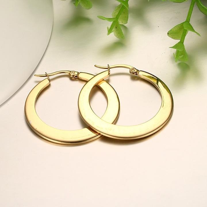 Gold Hoop Huggie Earrings