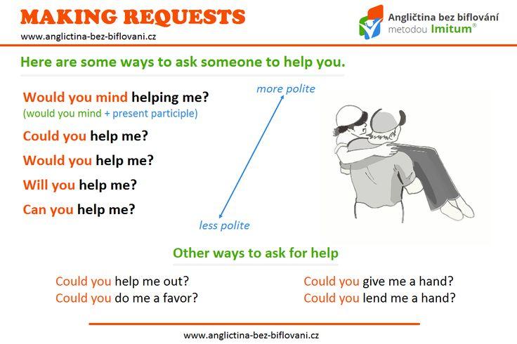 Víte, jak požádat někoho o pomoc? Tyto anglické fráze je určitě dobré vědět, protože člověk nikdy neví, kdy je bude potřebovat...🆘 #makingrequest #askingforhelp
