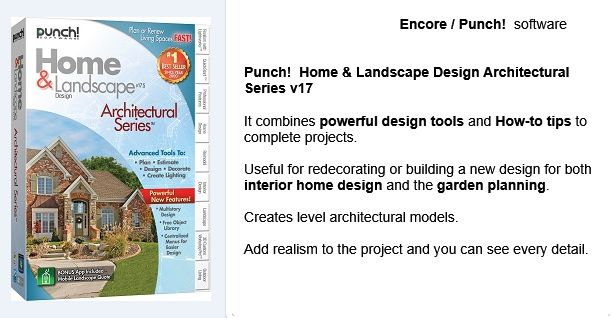14 best encore punch 3d home landscape design software for Home landscape design architectural series v17