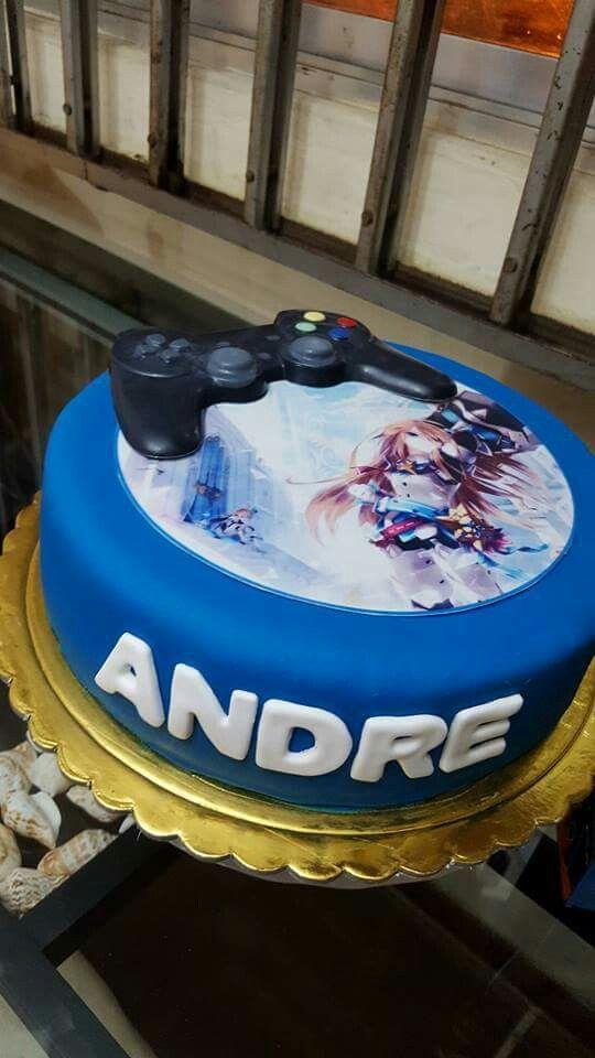 Pastel juego de Xbox y pastel control