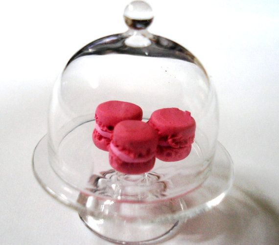 Miniature Cake Stand Dome Case Dollhouse Glass Scale Doll