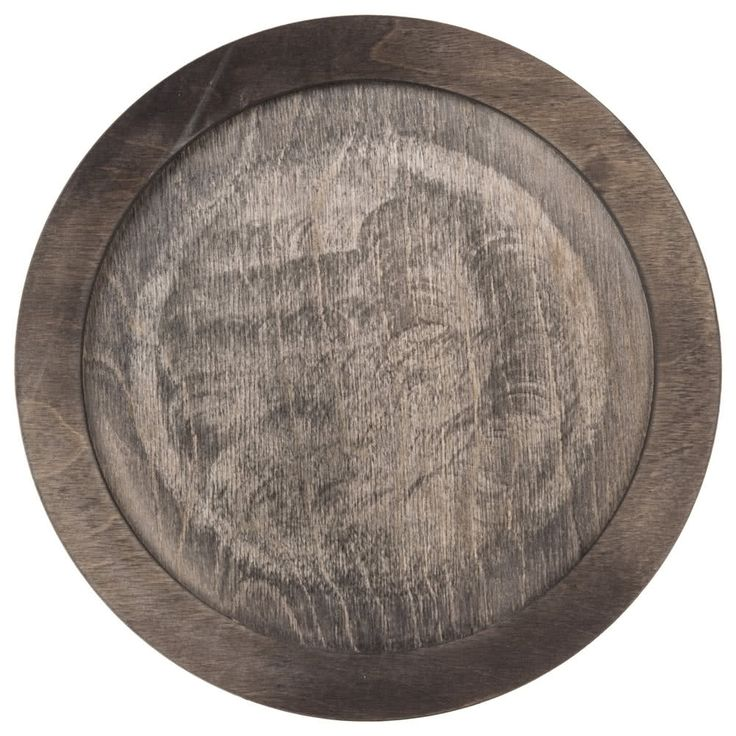 """Expertly serve your oven-to-table entrees with this Lodge U6RP 10"""" round walnut stain wood underliner! Made of 3/4"""" thick cold forest hardwood, this underliner features a sturdy form that is cut specifically to hold your cast iron griddle in place while transporting it from the kitchen to your guests' tables. While it protects your tables and countertops from heat damage caused by cast iron cookware, it adds an extra layer of protection to ensure employees can safely and ea..."""