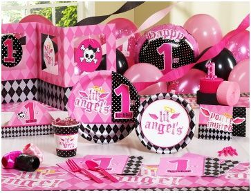 1st Birthday Party Ideas � Lil� Angel 1st Birthday Party Supplies Coming Soon