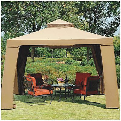 view avalon 10 39 x 10 39 gazebo with netting deals at big. Black Bedroom Furniture Sets. Home Design Ideas
