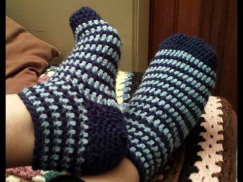 Chaussettes au crochet - YouTube