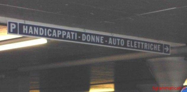 Sgrammaticati.it HANDICAPPATI-DONNE-AUTO ELETTRICHE D'ivertenti sgrammaticati