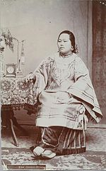 Portrait of a married Chinese-American woman in the 1870s.