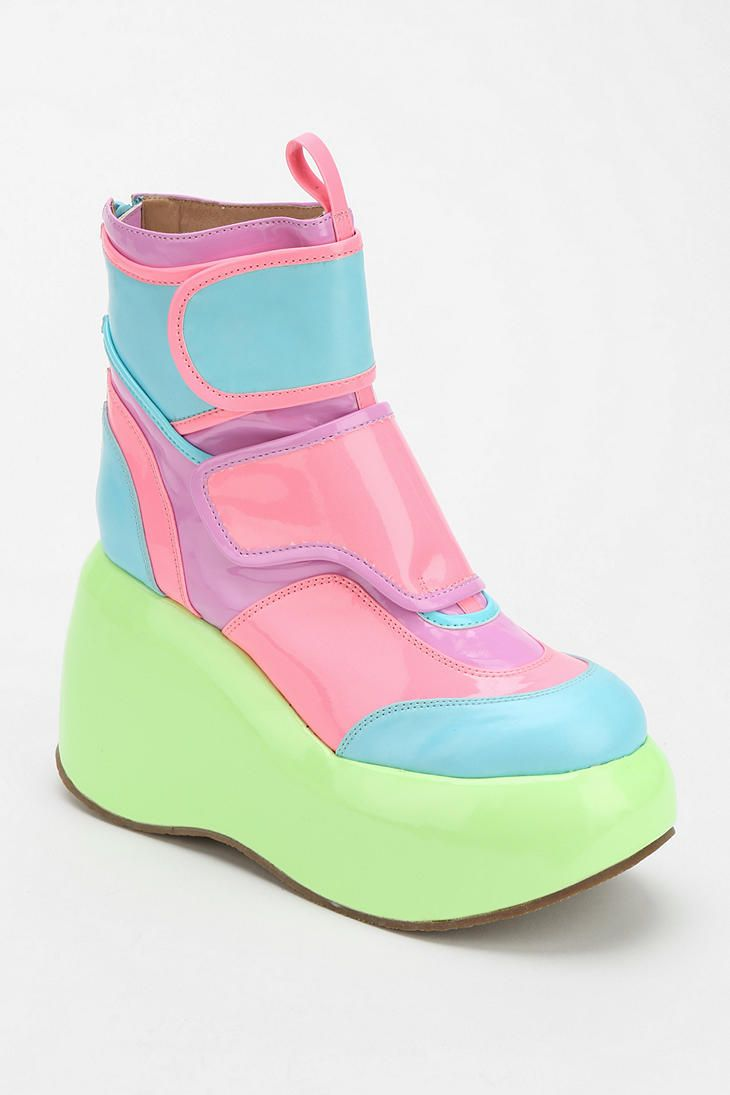 Jeffrey Campbell Echo Glow Platform Ankle Boot... these are just out of this world hahah